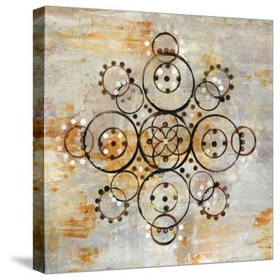 Saffron Mandala I Crop-Melissa Averinos-Stretched Canvas Print