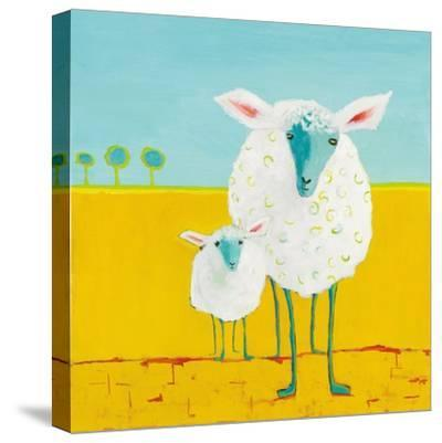 Mama and Baby Sheep-Phyllis Adams-Stretched Canvas Print