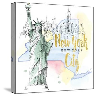 US Cities IV-Beth Grove-Stretched Canvas Print
