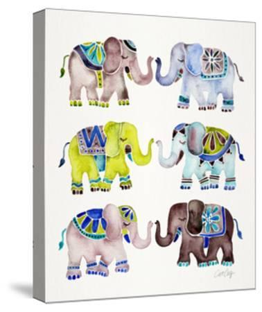Cool Elephants-Cat Coquillette-Stretched Canvas Print