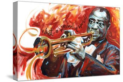 Louis Armstrong: What a Wonderful World-Shen-Stretched Canvas Print