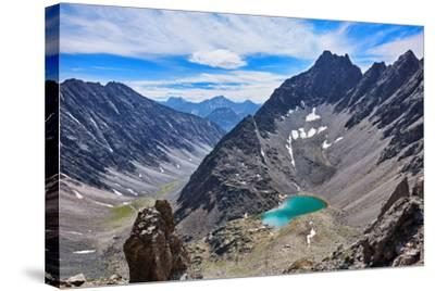 Mountain Lake in an Open Circus in the Siberian Highlands. Eastern Sayan. Buryatia-Victor Nikitin-Stretched Canvas Print