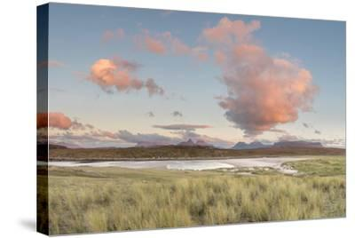 Dramatic Cloud over Achnahaird Bay and the Mountains of Assynt, North West Scotland-Stewart Smith-Stretched Canvas Print
