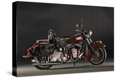 Indian Roadmaster Chief 1953-Simon Clay-Stretched Canvas Print