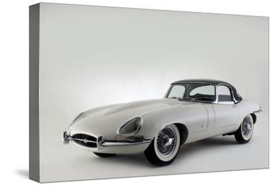 Jaguar E type 1961-Simon Clay-Stretched Canvas Print