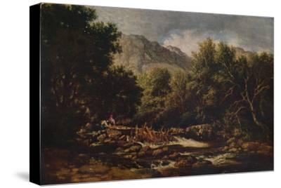 On the Lledr, c1844-David Cox the elder-Stretched Canvas Print