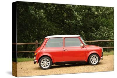Rover Mini Cooper works 1998-Simon Clay-Stretched Canvas Print