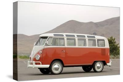 VW micro bus 1964-Simon Clay-Stretched Canvas Print
