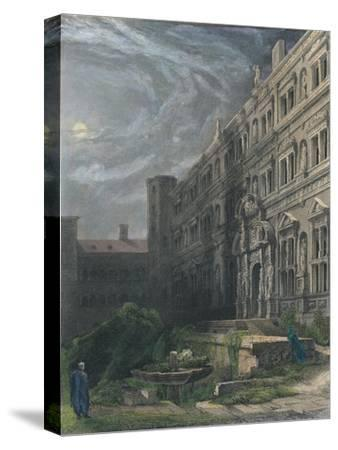 The Great Court of Heidelberg, 1834-Henry Winkles-Stretched Canvas Print
