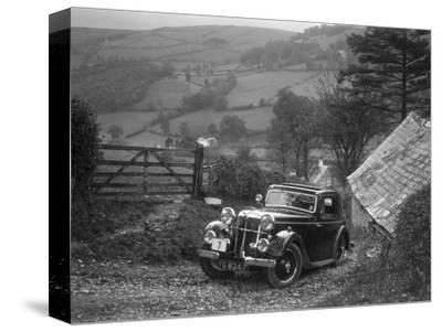 1934 Standard Avon Ten coupe taking part in a Standard Car Owners Club trial-Bill Brunell-Stretched Canvas Print