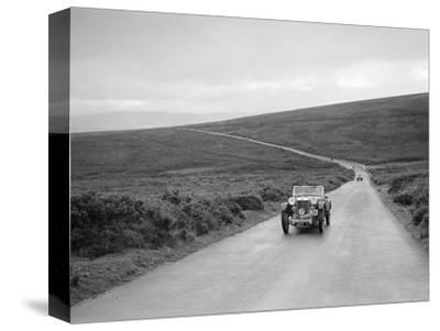 EH Goodenoughs MG PB competing at the MCC Torquay Rally, July 1937-Bill Brunell-Stretched Canvas Print