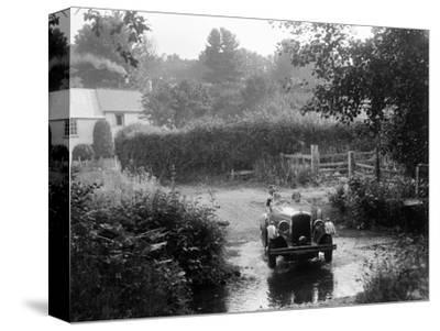 Wolseley competing in the B&HMC Brighton-Beer Trial, Windout Lane, near Dunsford, Devon, 1934-Bill Brunell-Stretched Canvas Print