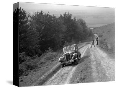 1936 Talbot 10 1185 cc competing in a Talbot CC trial-Bill Brunell-Stretched Canvas Print