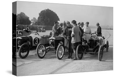Salmson and two GNs, JCC 200 Mile Race, Brooklands, 1922-Bill Brunell-Stretched Canvas Print