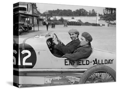 Enfield-Allday of Woolf Barnato at the JCC 200 Mile Race, Brooklands, 1922-Bill Brunell-Stretched Canvas Print