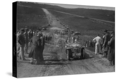 1934 MG PA competing in a motoring trial, Bagshot Heath, Surrey, 1930s-Bill Brunell-Stretched Canvas Print
