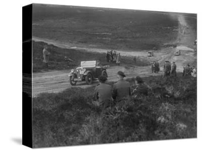 Morris Minor competing in a motoring trial, Bagshot Heath, Surrey, 1930s-Bill Brunell-Stretched Canvas Print
