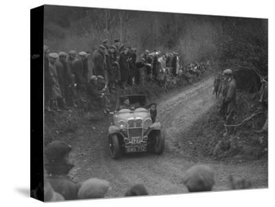Singer of SGE Tett competing in the MCC Lands End Trial, 1935-Bill Brunell-Stretched Canvas Print