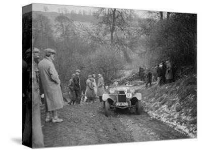 Frazer-Nash Boulogne II of P Lees competing in the Sunbac Colmore Trial, Gloucestershire, 1933-Bill Brunell-Stretched Canvas Print