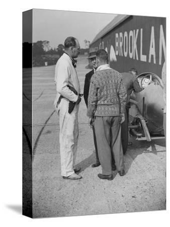 Surbiton Motor Club race meeting, Brooklands, Surrey, 1928-Bill Brunell-Stretched Canvas Print