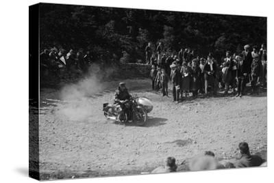 Rudge-Whitworth and sidecar of FV Garratt competing in the MCC Edinburgh Trial, 1930-Bill Brunell-Stretched Canvas Print