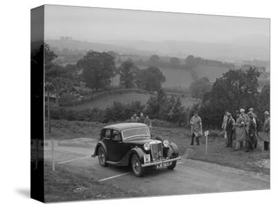 MG VA of RK Wellsteed competing in the South Wales Auto Club Welsh Rally, 1937-Bill Brunell-Stretched Canvas Print