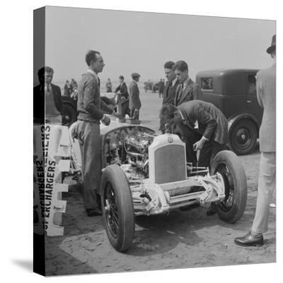 Raymond Mays Vauxhall-Villiers at a sand racing event, c1930s-Bill Brunell-Stretched Canvas Print