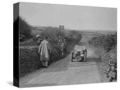 MG J2 of JWS Utley competing in the MCC Lands End Trial, Beggars Roost, Exmoor, 1933-Bill Brunell-Stretched Canvas Print