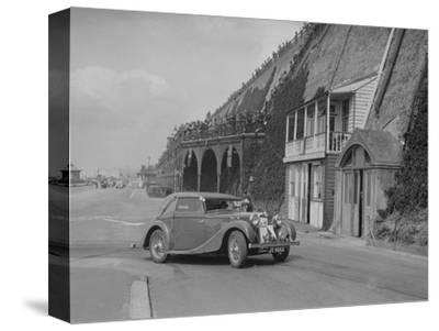 MG VA Tickford tourer of Lilian Roper competing in the RAC Rally, Madeira Drive, Brighton, 1939-Bill Brunell-Stretched Canvas Print