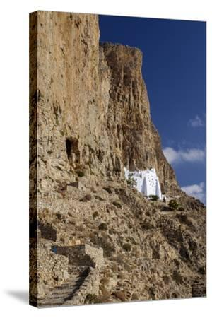 Hozoviotissa Monastery in Amorgos, Greece-Krista Rossow-Stretched Canvas Print