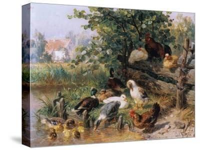 Summerly refreshment. 1901-Carl Jutz-Stretched Canvas Print
