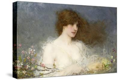 A Spring Idyll. 1901-George Henry Boughton-Stretched Canvas Print