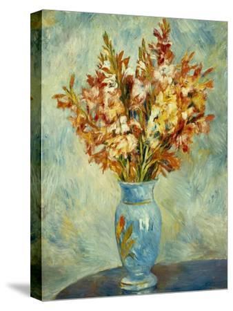 Gladioli in Blue Vase (Glaieuls au Vase Bleu). 1884-Pierre-Auguste Renoir-Stretched Canvas Print