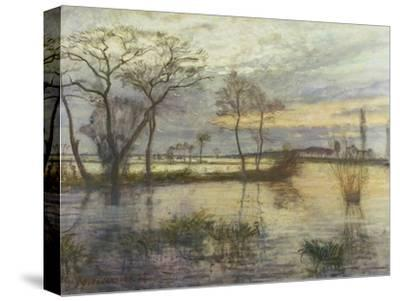 Evening on the river Wümme. 1938-Otto Modersohn-Stretched Canvas Print