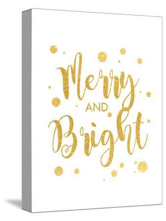Merry and Bright-Anna Quach-Stretched Canvas Print