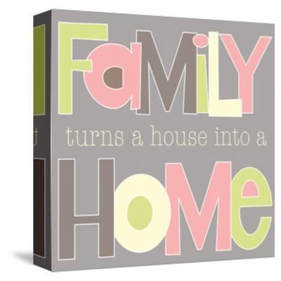 Family Turns a House-Alli Rogosich-Stretched Canvas Print