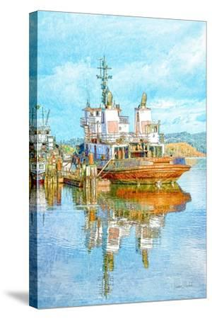 Harbor Tug-Ramona Murdock-Stretched Canvas Print