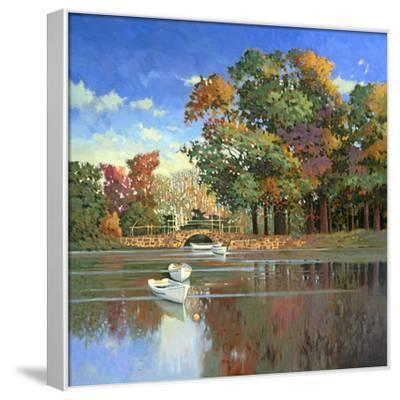 Early Autumn in the Loire-Max Hayslette-Framed Stretched Canvas Print