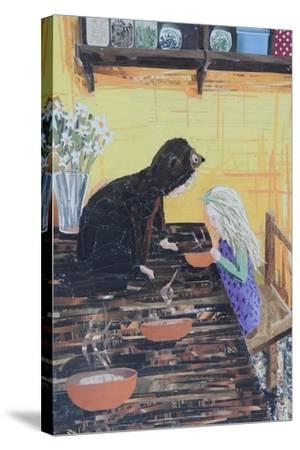 Goldilocks and Little Bear-Kirstie Adamson-Stretched Canvas Print
