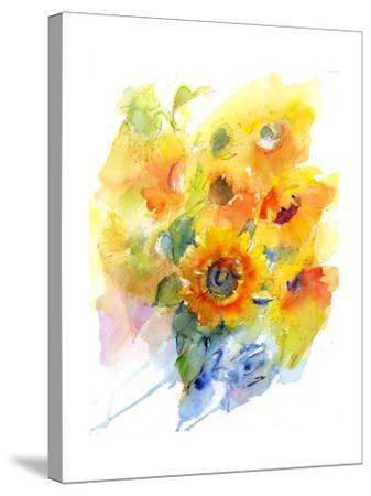 Sunflowers in Vase, 2016-John Keeling-Stretched Canvas Print