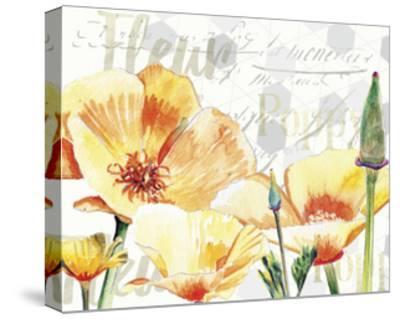 Yellow Poppy I-Redstreake-Stretched Canvas Print