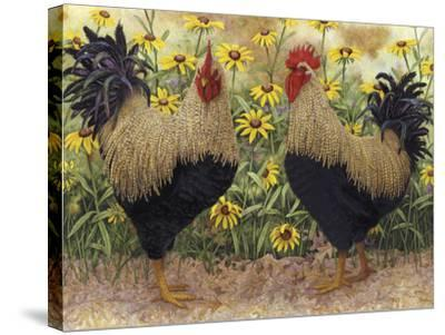 Roosters en Place III-Marcia Matcham-Stretched Canvas Print