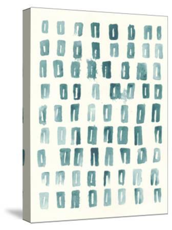 Blue Batik Motif II-June Vess-Stretched Canvas Print
