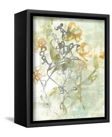 Washed Floral I-Jennifer Goldberger-Framed Stretched Canvas Print