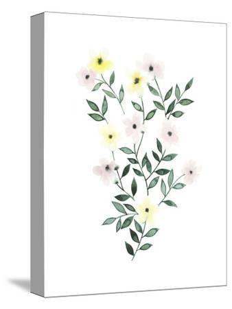 Trellis Flowers I-Grace Popp-Stretched Canvas Print