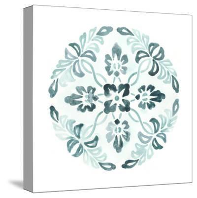 Aqua Medallions II-June Vess-Stretched Canvas Print