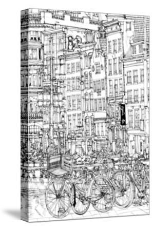 B&W City Scene I-Melissa Wang-Stretched Canvas Print