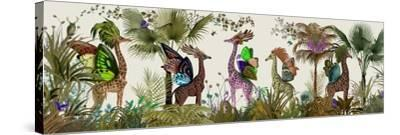 Tropical Giraffes, Moss-Fab Funky-Stretched Canvas Print