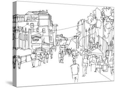 Cityscape Hollywood-Natasha Marie-Stretched Canvas Print
