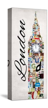 London Letters-Jeni Lee-Stretched Canvas Print